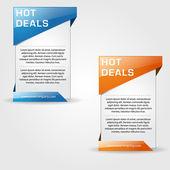 Hot Deal Web Banner Vector Design — Stock Vector