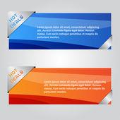 Web Banner Vector Design — Stock Vector