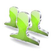 Los usuarios de 3d vector icono — Vector de stock