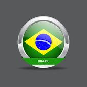 Brazil Flag Vector Icon — Stock Vector