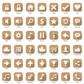 Set di icone web telefono internet design piatto — Vector de stock