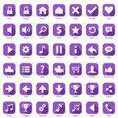 Web Phone Internet Flat design Icon Set — Stock Vector