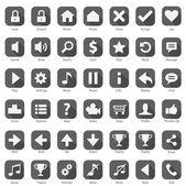 Web Phone Internet Flat design Icon Set — Stock Vector