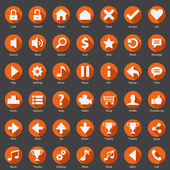 Web Internet Smart Phone Icon Design Set — Stock Vector