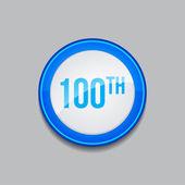 100 niebieski okrągły wektor web ikona przycisku — Wektor stockowy