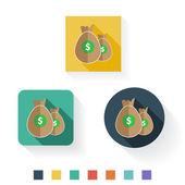 Money Dollar Flat Icon Design — Stock Vector