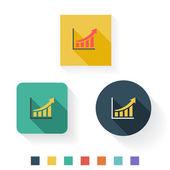 Graph Flat Icon Design — Stock Vector
