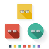 Glasses Flat Icon Design — Stock Vector