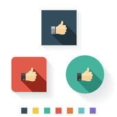 Thumbs Up Flat Icon Design — Stock Vector