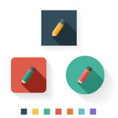 Pencil Flat Icon Design Kit Set Collection — Stock Vector