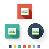 Image Flat Icon Design — Vector de stock