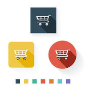 Shopping Cart Flat Icon Design — Stock Vector