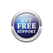 Bouton brillant vecteur circulaire brillante support gratuit — Vecteur