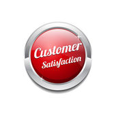 Customer Satisfaction Red Vector Icon — Stock Vector