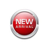 New Arrival Glossy Shiny Circular Vector Button — Stock Vector