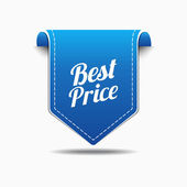 Best Price Blue Label Icon Vector Design — Stock Vector