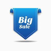Big Sale Blue Label Icon Vector Design — Stock Vector