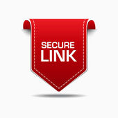 Secure Link Red Label Icon Vector Design — Vettoriale Stock