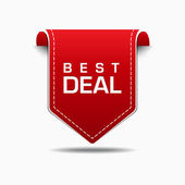 Best Deal Red Label Icon Vector Design — Stock Vector
