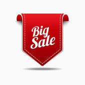Big Sale Red Label Icon Vector Design — Stock Vector