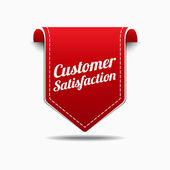 Customer Satisfaction Red Label Icon Vector Design — Vetorial Stock