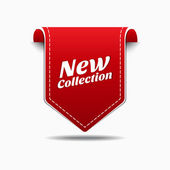 New Collection Red Label Icon Vector Design — Stock Vector