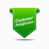 Customer Satisfaction Green Label Icon Vector Design — Stock Vector