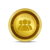 User Circular Vector Gold Web Icon Button — Wektor stockowy