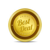 Best Deal Glossy Shiny Circular Vector Button — Stok Vektör