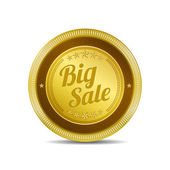 Big Sale Glossy Shiny Circular Vector Button — Stok Vektör