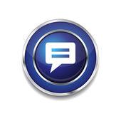 Reset Circular Vector Blue Web Icon Button — Stock Vector