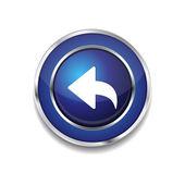 Reset Replay Circular Vector Blue Web Icon Button — Stock Vector