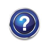 Help Circular Vector Blue Web Icon Button — Stock Vector