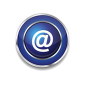 Auf zirkuläre Vektor blau Web-Symbol-Knopf — Stockvektor