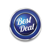 Best Deal Glossy Shiny Circular Vector Button — Stock vektor