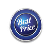 Best Price Glossy Shiny Circular Vector Button — Stockvector