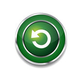 Reset Circular Vector Green Web Icon Button — Stock Vector