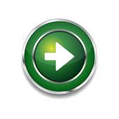 Right Key Circular Vector Green Web Icon Button — Stock Vector