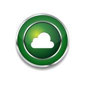 Cloud Circular Vector Green Web Icon Button — Stock Vector