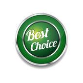Best Choice Glossy Shiny Circular Vector Button — Stock Vector