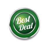 Best Deal Glossy Shiny Circular Vector Button — Vecteur