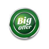 Big Offer Glossy Shiny Circular Vector Button — Stock Vector
