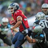 Raiders vs . Broncos — Stock Photo