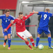 Austria vs. Faroe Islands. Marko Arnautovic — Stock Photo