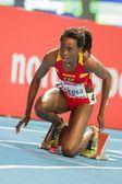 European Indoor Athletics Championship 2013. Lorena Bokesa — Stock Photo