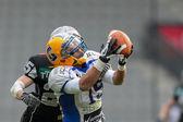 Raiders vs. Giants. WR Armando Ponce De Leon — Stock Photo