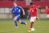 Austria vs. Faroe Islands. David Alaba — Stock Photo