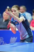 ETTU - SVS Stroeck vs. Linz AG Froschberg. Nikole Galitschitsch — Stock Photo