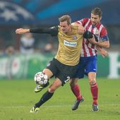 Austria vs. Atletico Madrid — Stock Photo