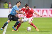 Oostenrijk vs. uruguay — Stockfoto